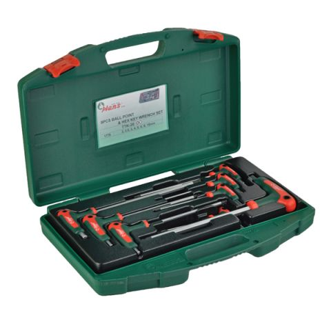 Hans RATTK-20 8pc ball point and hex key wrench set