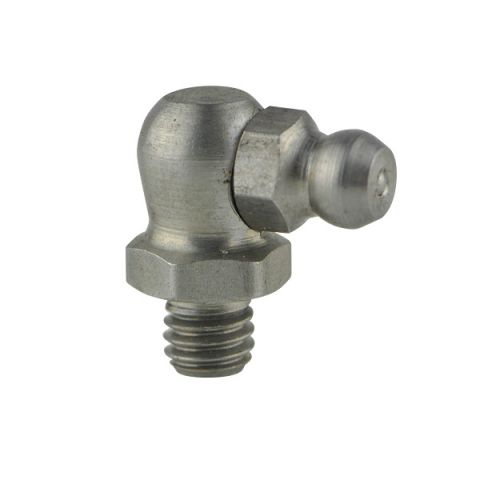 Groz 90 degree angle stainless steel grease nipples
