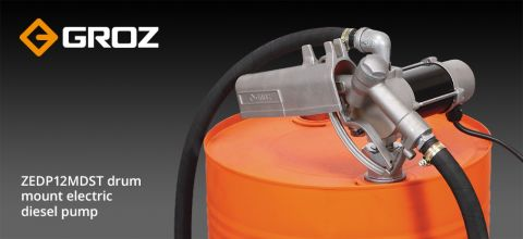 Groz ZEDP12MDST drum mount electric diesel pump