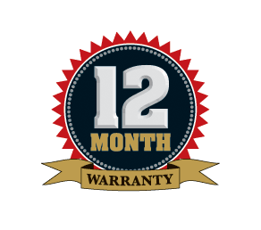Warranty 12 month logo
