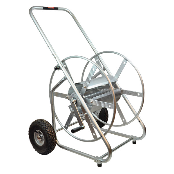 Galvanised manual rewind hose reels