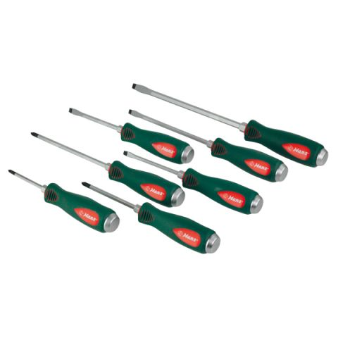 Hans RA06500-7B 7pc go-thro screwdriver set