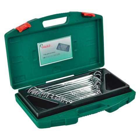 Hans RATTK-4P 12pc Combination Wrench Set 8-24mm