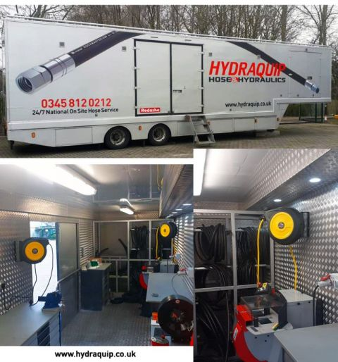 Redashe Support Hydraquip With Safety Reels For Their Mobile Workshop